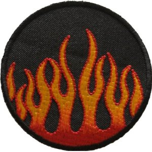 "iron on patch "" flame """