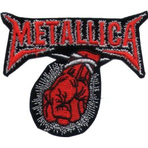 "iron on patch "" Metallica """