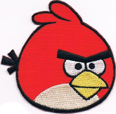 "iron on patch "" Angry Bird """