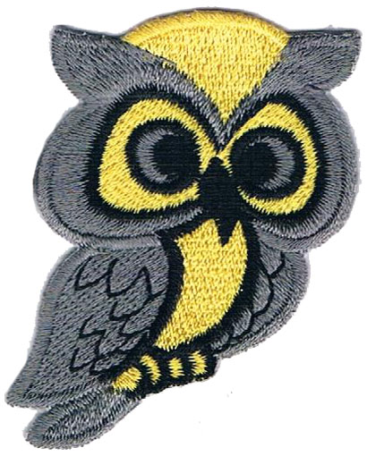 "iron on patch "" Owl """