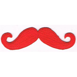 "iron on patch "" Mustachio """