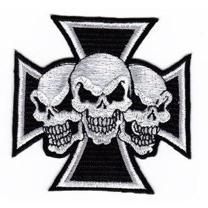 "iron on patch "" Skull """