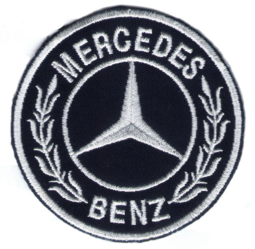 "iron on patch "" Mercedes Benz """