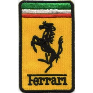 "iron on patch "" Ferrari """