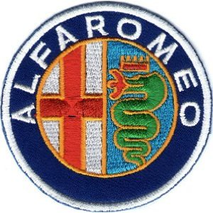 "iron on patch "" Alfa Romeo """