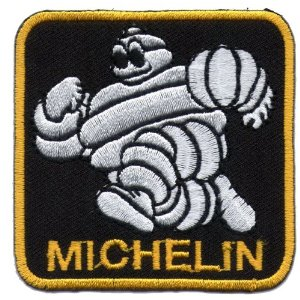 "iron on patch "" Michelin """