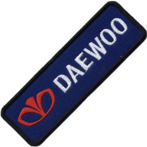 "iron on patch "" Daewoo """