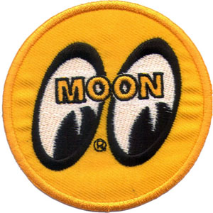 "iron on patch "" MOON """