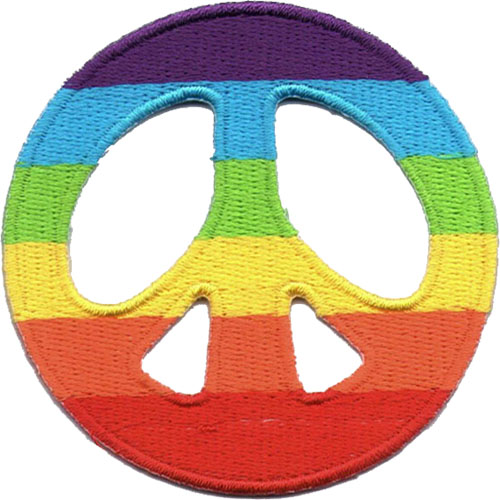 "iron on patch "" Peace """