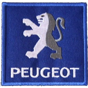 "iron on patch "" Peugeot """