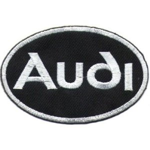 "iron on patch "" Audi """