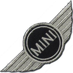 "iron on patch "" Mini Cooper """