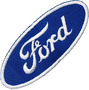 "iron on patch "" Ford """