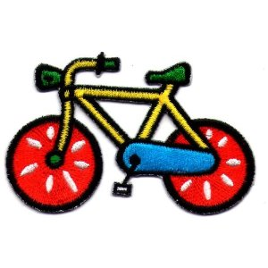 "iron on patch "" bicycle """