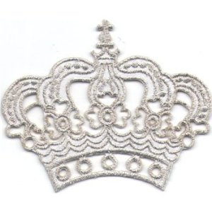 "iron on patch "" Crown """